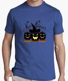 Camiseta Camiseeta Chico manga corta, Calabazas Halloween