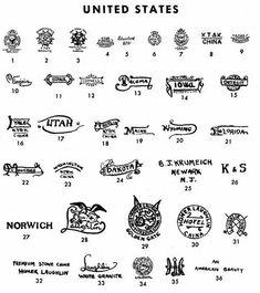 123 best marks marks marks images on pinterest american kt k and laughlin ironstone pottery porcelain marks united states altavistaventures Images