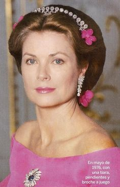 ❤ ♔ ❤ ♛ ❤ ♕ ❤ ♔ ❤ ♛ ❤ ♕ Grace Kelly wearing a tiara, 1976