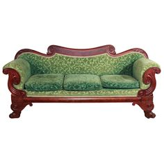 American Mahogany Empire Sofa. (One day I will have a house and a real sofa.)