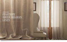 Pinstripe Sheer Belgian Linen