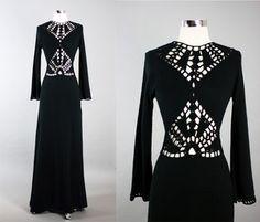 Vintage 60s 70s Crochet Illusion Dress | eBay