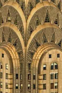 close up detail of higher sections of Chrysler Building