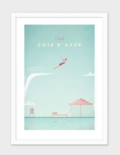 """""""Cote d'Azur"""", Numbered Edition Fine Art Print by Henry Rivers - From $42.00 - Curioos"""