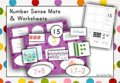 Number Sense Mats (Numbers 11-20) - This unit contains number sense mats and cards and a series of cut and paste worksheets for the numbers 11-20.