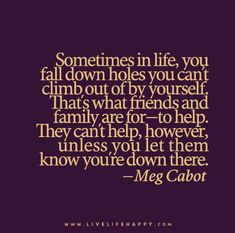 Sometimes in Life, You Fall down Holes