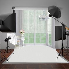 SUSU Modern Living Room Photographic Backgrounds White Lace Curtain Backdrop White Floor and Lighting Background Wrinkles Free Bedroom Photography, Photography Backdrops, White Lace Curtains, Anime Scenery Wallpaper, Living Room Background, Bedroom Carpet, Home Office Design, Modern Living, 2d Game Background