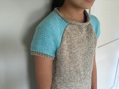 Ravelry: Project Gallery for Two-Color Baseball Tee pattern by Laura Bryant