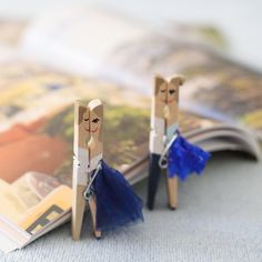 original handpainted clothespins for both gorgeous by PerfectTweak