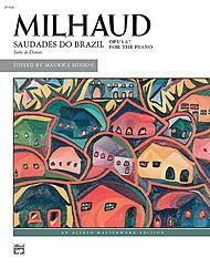 Milhaud -- Saudades do Brazil Sheet Music by Darius Milhaud (1892-1974) | Sheet Music Plus