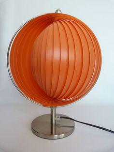 Cool/Wonderful// Vintage retro style moon lamp 60s 70s table lamp light funky modernist