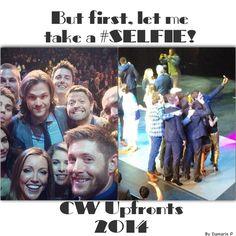 CW Upfronts 2014 #Selfie edit! #betterthantheellenselfie