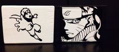 Anime Naruto Wood Blocks can be customized to any theme/color www.facebook.com/archerdesigns2012