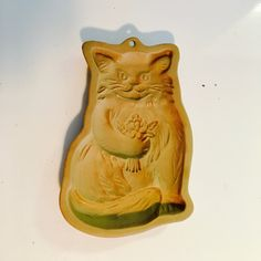 Cat cookie mold, Brown Bag cookie mold, Cookie press, Cookie art mold - 1983 by vintagetoolbox on Etsy