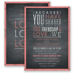 I adore the wording on this. Yes please. Pretty Proclamation - Coral Reef - Invitation   Invitations By David's Bridal