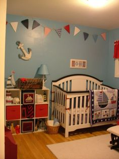 Johnny's Nautical Nursery. Rate my space.