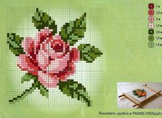 This Pin was discovered by Fot Cross Stitch Love, Cross Stitch Flowers, Cross Stitch Designs, Cross Stitch Patterns, Rose Embroidery, Cross Stitch Embroidery, Embroidery Patterns, Loom Beading, Beading Patterns