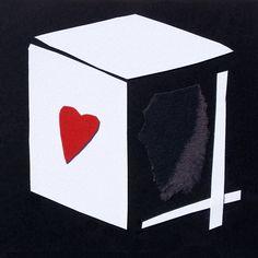 """andrea mattiello """"Cube"""" collage su cartoncino cm 15x15; 2015#andreamattiello #art #artistaemergente #emergingartist #collage #paper #cardboard"""