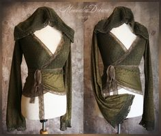 Elvïa De Forestreïa Lace Hoodie by Moonalia on Etsy Where To Buy Clothes, Celtic Clothing, Cool Outfits, Fashion Outfits, Cool Hoodies, Steampunk, Modern Fashion, Pagan Clothes, Couture