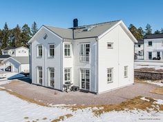 Hudson - Storslaget hus i serien Ocean Living från Myresjöhus European House, New England, Ocean, Mansions, House Styles, House Architecture, Inspiration, House Ideas, Home Decor