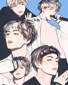 """(@bts.0ffcial) """"Which BTS member is this?. . . ©®@yibiart"""""""