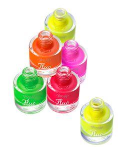 Glossip FLUO - Nail lacquer, Smalto per unghie artificiali