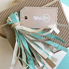 Card-Blanc by Kathy Martin: DIY Paper Tassels