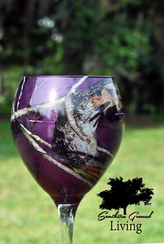 Purple Camo Wine Glass Personalized Wine by SouthernGroundLiving