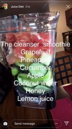 cleanser smoothie w grapefruit and pineapple