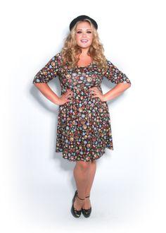 Scroll and Key Plus Size Babydoll Dress | FATshionistas - Plus ...