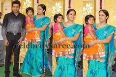 Jyothika Sea Blue Silk Saree | Saree Blouse Patterns