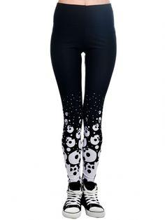 """Women's """"Skulls"""" Lexy Leggings by Too Fast (Black) #inkedshop #skulls #leggings…"""