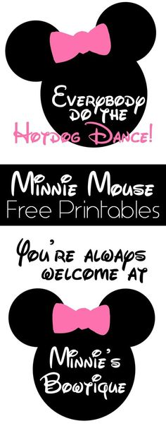 Minnie Mouse Free Printables on www.girllovesglam.com