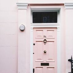 Discovered by —n♡. Find images and videos about pink, door and pastel on We Heart It - the app to get lost in what you love. Interior And Exterior, Interior Design, Interior Door, Nordic Interior, Interior Decorating, Song Of Style, European Home Decor, Beyond The Rack, Knock Knock