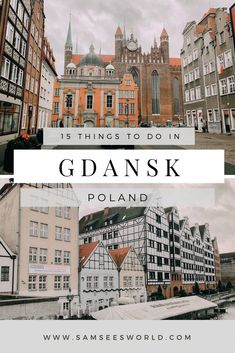 Read here all the best things to do in Gdansk, Poland. From exploring the old town, to walking the long street and more! Travel Through Europe, Travel Tips For Europe, Europe Destinations, Holiday Destinations, Travel Advice, Travel Guides, Poland Travel, Italy Travel, Croatia Travel