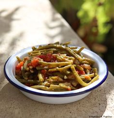 HARICOTS VERTS À L'ITALIENNE Cooking Recipes, Healthy Recipes, Healthy Food, My Best Recipe, Healthy Sides, Japchae, Chili, I Am Awesome, Good Food