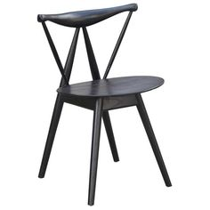 Frontier Dining Chair (Fronter Dining Chair Black) (Wood)