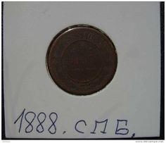 RUSSIA, 1 KOPEK 1888 С.П.Б. - in folder