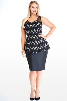 2190b911 jt8605ftf_gina04_3363 Trendy Plus Size, Plus Size Tops, Plus Size Peplum,  Fashion To Figure
