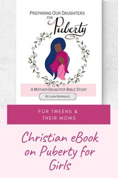 Christian book on puberty for girls. Puberty is not an easy topic to broach and so I put together this mother-daughter bible study to help mom's introduce the topic of puberty to their tween girls. Each lesson also comes with a craft suggestion and instructions and discusssion questions. Raising Daughters, Book And Magazine, Tween Girls, Study Materials, Body Image, The Book, Encouragement, Christian, Bible Studies