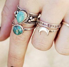Anéis, muitos anéis - Vestido do Dia - Blog de moda.