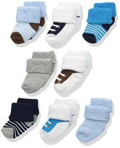Luvable Friends Unisex Baby Newborn and Baby Terry Socks. Pull On closure Machine washable Set includes eight pairs of terry socks Made with cotton, polyester and spandex Soft, gentle and comfortable on baby's skin. Baby Boy Shoes, Baby Boots, Baby Boy Outfits, Gifts For Newborn Boy, Baby Boy Newborn, Cute Baby Clothes, Baby & Toddler Clothing, Babies Clothes, Preemie Clothes