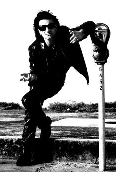 """- Bono """"The Fly"""" by Anton Corbijn 1992 Music Mix, Music Icon, My Music, Great Bands, Cool Bands, U2 Show, U2 Achtung Baby, U2 Band, Running To Stand Still"""