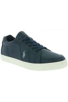 Polo Ralph Lauren Hugh Schuhe Herren Echtleder Sneaker Turnschuhe Blau Y0471 RHDBP A4004 https://modasto.com/ralph-ve-lauren/erkek-ayakkabi/br105ct82 #erkek