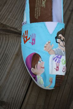 UP Carl and Ellie Original Custom Acrylic Painting for Toms Shoes. $130.00, via Etsy.