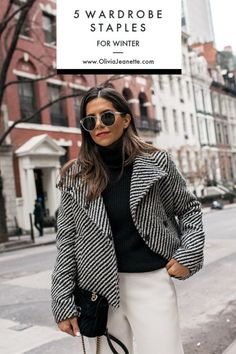 I'm sharing my top 5 winter wardrobe staples to carry you through this winter and next. Don't be afraid to invest in a piece that will last for a few years. New York City, Street Style, Winter Outfit, Winter Style Winter Sweater Outfits, Casual Winter Outfits, Winter Fashion Outfits, Classy Outfits, Women's Fashion, Nice Outfits, Fall Outfits, Winter Office Wear, Winter Wear