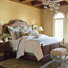 {I am OFFICIALLY in love with this bed} Beauvier French Cane Bed wow.