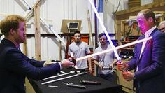 "Prince William and Prince Harry visit ""Star Wars"" set, have a ..."