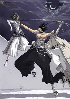 Zaraki Kenpachi a Captain class character in Bleach anime series. Well I am a big fan of this series and thought I should share some artwork for all the Bleach Bleach Anime, Bleach Fanart, Guess The Anime, Anime Love, Anime Guys, Shinigami, Manga Anime, Anime Art, Bleach Characters