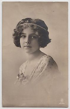 POSTCARD - beautiful young lady in hair band (believed to be Grete Reinwald?) RP in Collectables | eBay